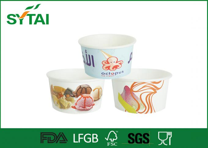 10oz 12oz 16oz Pape Disposable Ice Cream Cups, Aangepaste recyclebaar Frozen Yoghurt Cup