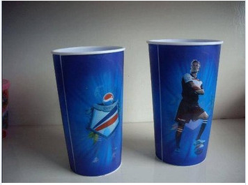 China Football Star Gedrukt papier Popcorn Containers met Deksels, Popcorn Packaging Bakken en Cups leverancier