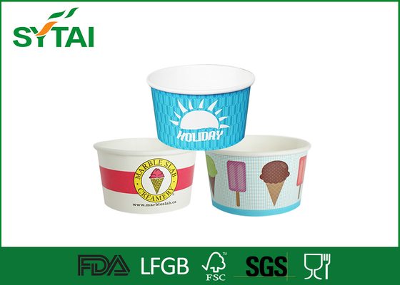 China 10oz 12oz 16oz Pape Disposable Ice Cream Cups, Aangepaste recyclebaar Frozen Yoghurt Cup leverancier